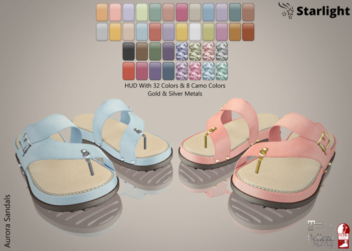 :: SA ::  Aurora Sandals with HUD