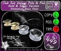 * Club Set * Dancer Table & Pad * Include 20 Dance Both * G / S