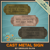 ★ NEW! ★ Cast Metal Sign - add your custom text!
