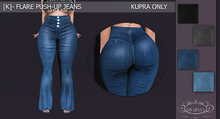 [K]-Flare push.up jeans (wear & click)