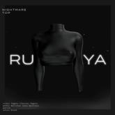 RUSSKAYA - NIGHTMARE TOP - BLACK