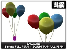 -LEO- birthday balloons FULL PERM + SCULPT MAP SALE!!!