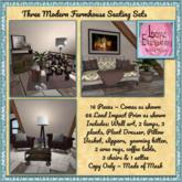 LE ~ Three Seating Sets *Modern Farmhouse*
