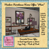 LE ~ Home Office Furniture *Modern Farmhouse Plum*