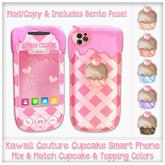 [: Kawaii Couture :] Cupcake Smart Phone - Pink