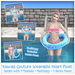 [: Kawaii Couture :] Polka Dot Heart Float - Blue