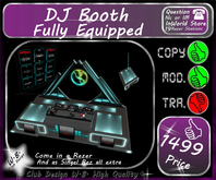 ** New  ** DJ Booth ** Fully Equipped *
