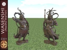 Nio Buddhist temple guardians - standing statues