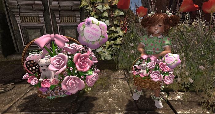 CJ Mothers Day Basket Pink TD Set - Transfer