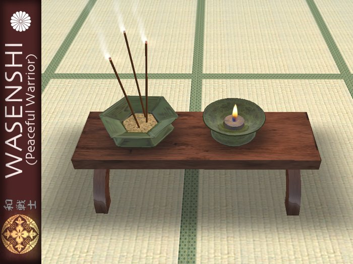Buddhist Temple offering table