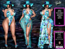 *Tanisha (4) Beach Style Set, Tropical Pinks , All Included 2 skirt cover options Kupra, Legacy, Maitreya, Belleza Slink