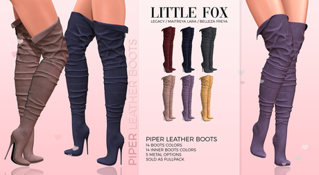 *GIFT* Little Fox - Piper leather boots // ALL COLORS