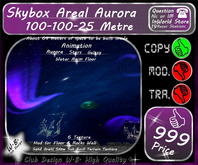 * New * Skybox Areal * Aurora Doom * 100to100to25 Metre *
