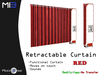 [MB3] Retractable Curtain - Red