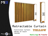 [MB3] Retractable Curtain - Yellow