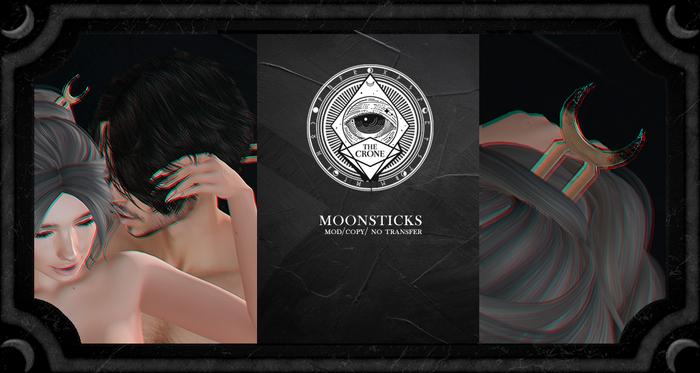 the crone . moon sticks {gold}