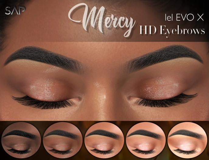 Sap ~ Mercy Eyebrows HD with Highlighter (Lelutka Evo / EvoX)