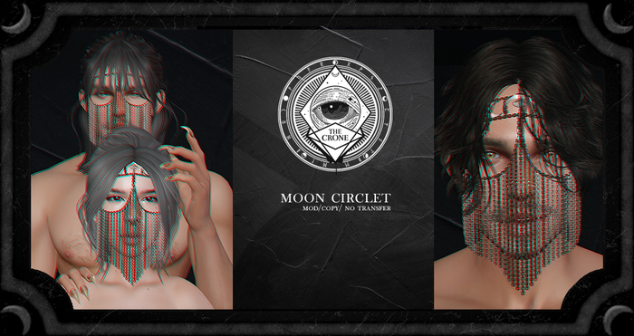 the crone . moon circlet {copper}