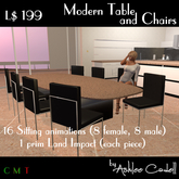 [AC] Table and Chairs Set 02