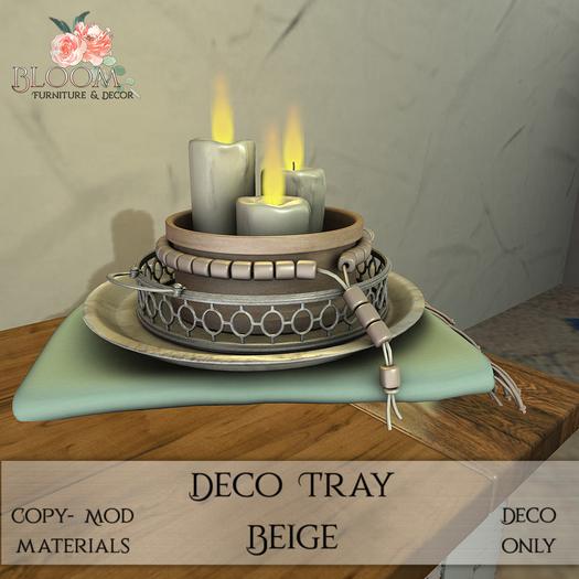 Bloom! - Deco Tray Beige (Add me to Unpack)