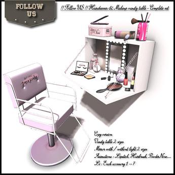 !! Follow US !! Hairdresser & Makeup vanity table set COPY BOX