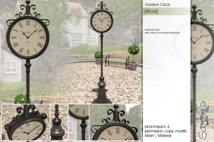 Sway's [Aroa] Outdoor Clock