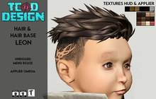 Hair & Hair Base ~ Leon (Hud Textures) Toddleedoo DEMO ~ Mesh