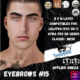 #TS#  Eyebrows #15 BOM - Lel Evo/Catwa HD Pro/ Classic