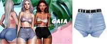 Gaia - mykie denim shorts//light