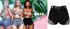 Gaia - mykie denim shorts//black