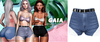 Gaia - mykie denim shorts//navy