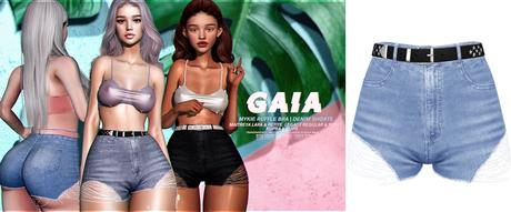 Gaia - mykie denim shorts//medium