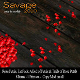 Red Rose Petals - Trails of Rose Petals - Fat Pack