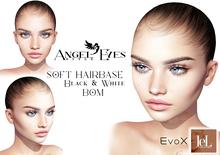 ♚Angel Eyes♚ SOFT Hairbase Lelutka EvoX Black & White(tinable) BOM