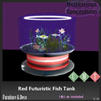 [MC] Red Futuristic Fish Tank (wear to unpack)