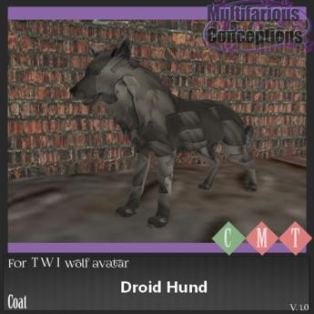 [MC] droid hund twi wolf coat (wear to unpack)
