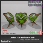 [MC] Leafed - In recliner Chair Dinky Petite + (wear to unpack)