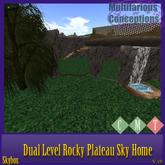 {{P.I.D&D}}Dual Level Rocky Plataue Sky Home