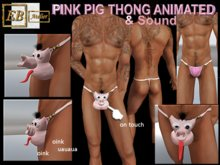 EB Atelier MEN- PIG PINK w/videoTHONG ANIMATED & SOUND FOR MEN -Wear it quickly- italian designer