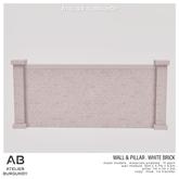 Atelier Burgundy . Wall & Pillar White Brick *ADD*