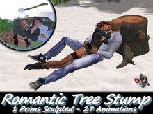 333 - Romantic Tree Stump - Sculpted - Animated