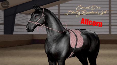Cheval D'or / TeeglePet Alicorn / Liberty Bareback Set. [HUD]