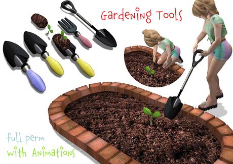 [ FULL PERM ] Gardening Tools & 2 Animations