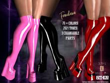 FRANCESCA Thigh High Latex wedge Boots. Inithium Kupra, Legacy, Maitreya, SLinks, Belleza`a, Mega Pack 70+ Colors