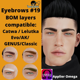 #TS#  Eyebrows #19 BOM - Lel Evo/Catwa HD Pro/ Classic
