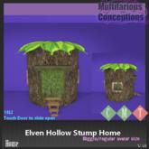[MC] Elven Hollow Stump Home (wear to unpack)