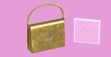 Karma Queen   Olive!   Gold mini-bag   LOVCOM.