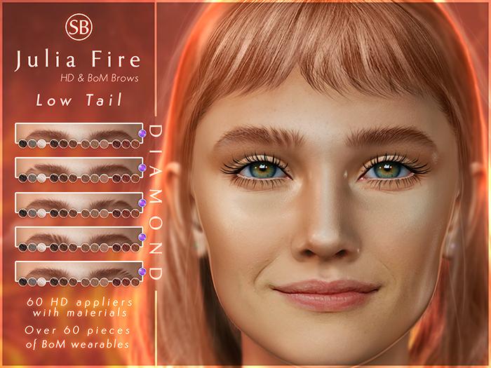 Eyebrows, EvoX AVALON: JuliaFire.LowTail.DIAMOND