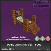 [MC] dinky sunflower bed BLU  (wear to unpack)