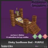 [MC] dinky sunflower bed PURPLE  (wear to unpack)